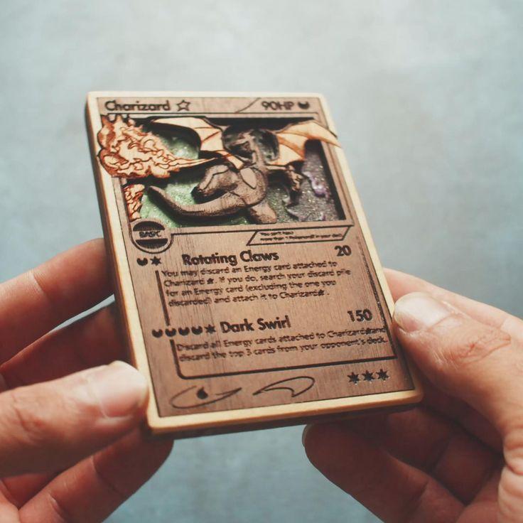 Custom wooden pokemon cards etsy video video
