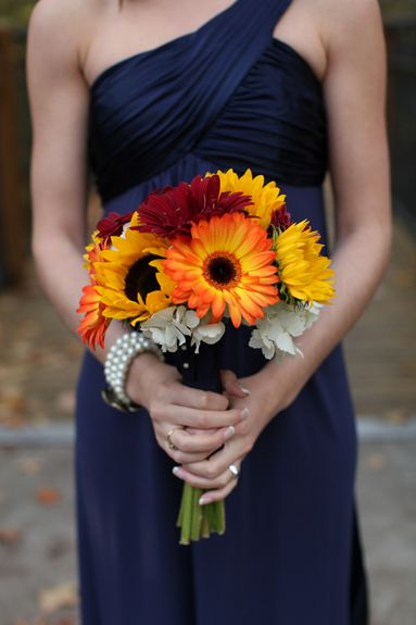 Absolutely perfect---- Handmade Sunflower Bouquets and a Navy Blue & Yellow Color Palatte…a Perfectly Happy Ohio Wedding Fab You Bliss, Mandy Paige Photography, Receptions Inc. wedding 008 – Fab You Bliss