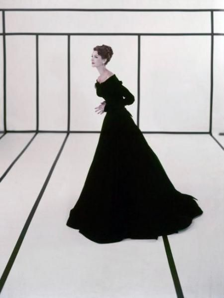 Cecil Beaton - FASHION SHOT EVENING WEAR, 1950S | From a unique collection of photography at http://www.1stdibs.com/art/photography/