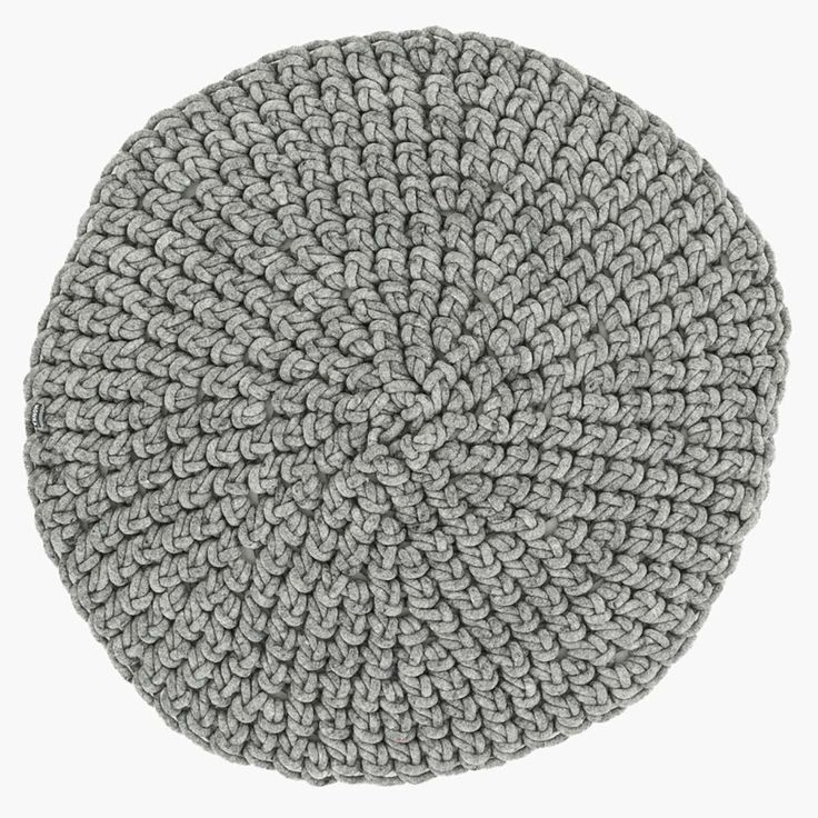Handgehäkelter Teppich - hellgrau  | Textilien | Deko & Accessoires