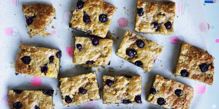 Blueberry + Lemon Yoghurt Scone Fingers via @iquitsugar