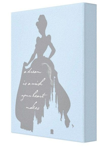 CANVAS PRINT: A Dream Is A Wish Your Heart Makes Cinderella Print