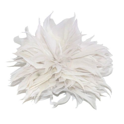 White Fascinator feather brooch fascinator clip or pin