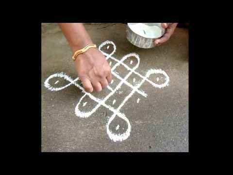 YouTube - How to draw a Pulli Kolam