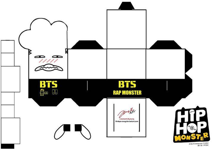 BTS Hip Hop Monster Rapmon Papercraft by ill-dope-swag.deviantart.com on @DeviantArt