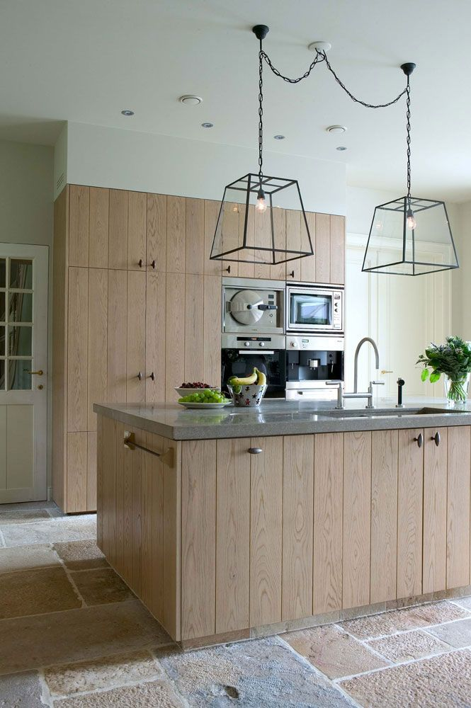 Contemporary Country Kitchen Raw Oak Granite And Modern