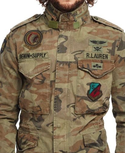 44c4a05177dac Denim-Supply-Ralph-Lauren-Men-Military-Army-Camo-Skull-Indian-Chief-Field- Jacket