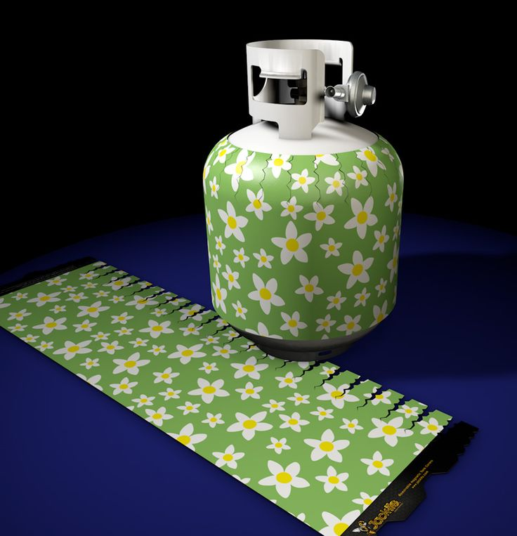 Retro Daisy Pattern Jack-its at www.jackits.com. Your source for the highest quality decorative removable magnetic propane tank covers.