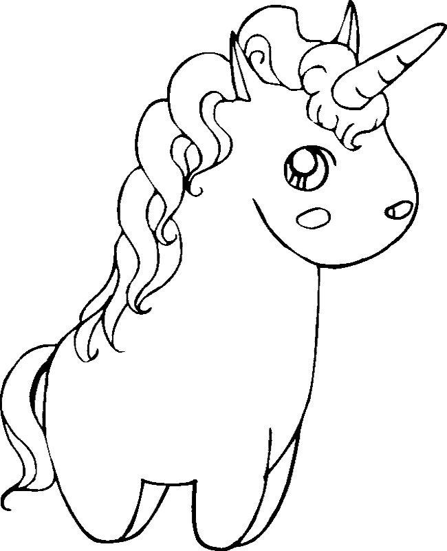 Baby Unicorn Coloring Pages Cute Unicorn Coloring Pages ...
