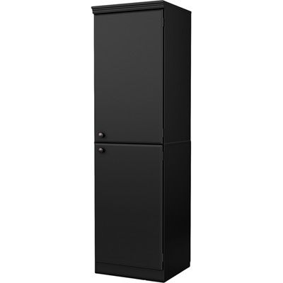 South Shore Morgan Narrow Storage Cabinet - Pure Black ...
