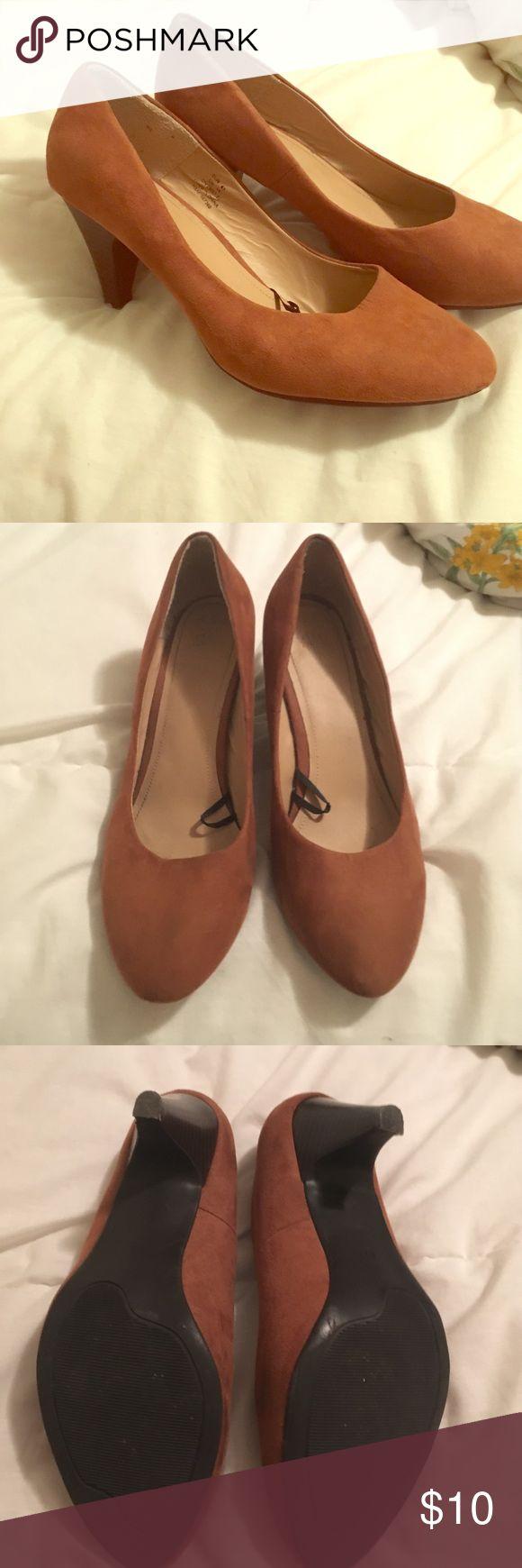 H&M heels Camel-colored kitten heels, in great condition H&M Shoes Heels