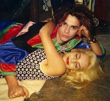 Michael Hutchence & Saskia Post in 'Dogs in Space.'