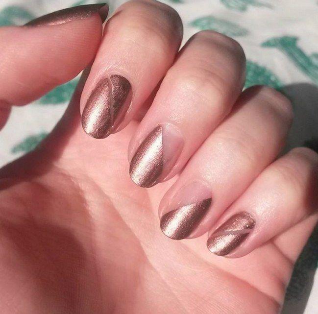 #manicura #bronce #metalizado