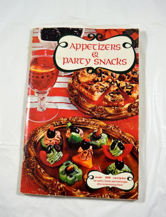 Appetizers and Party Snacks Vintage Cookbook 1970s Cookbook