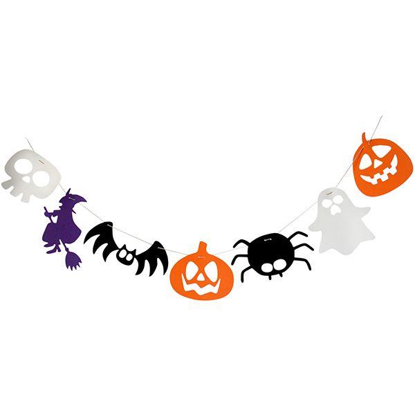 #Guirnalda para decorar hecha con goma eva o con cartulina Fixo Kids! #diy #halloween #gomaeva #recortables #calabaza