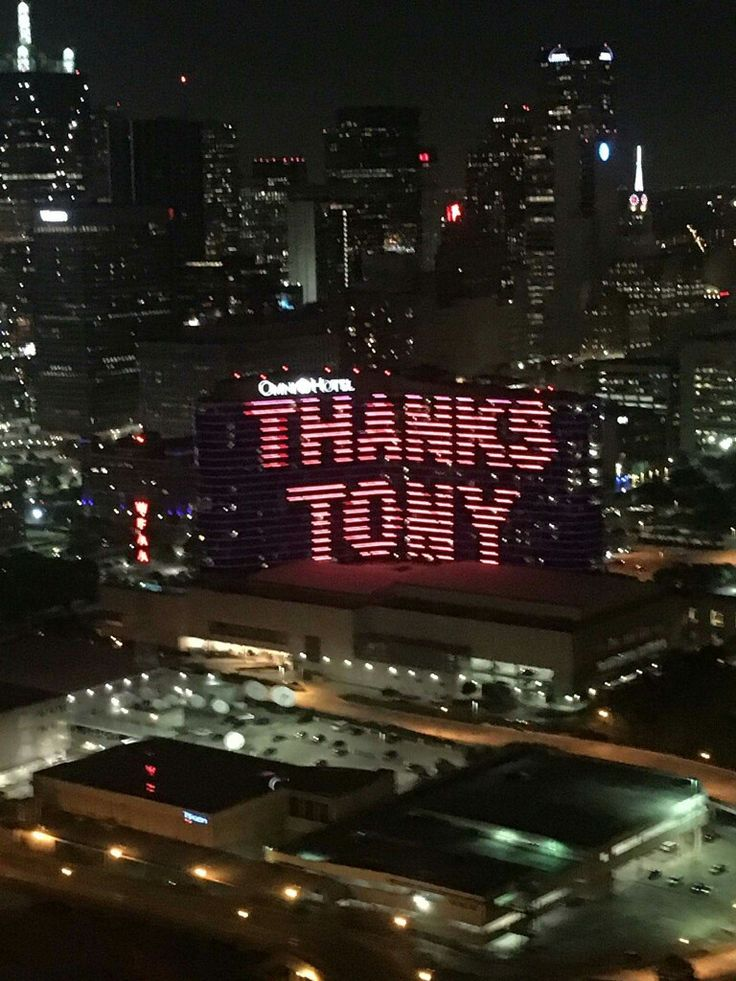 The Omni Hotel in Dallas honoring Tony Stewart. Texas October 2016