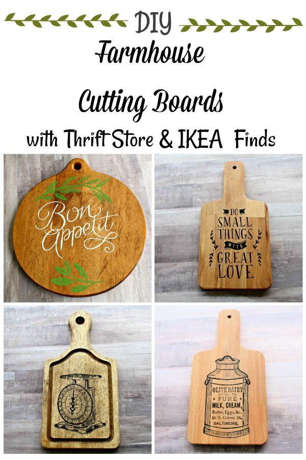 Give a plain cutting board farmhouse style!