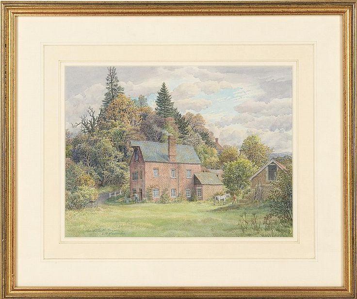 """aquarelle sur papier de Stanley Roy BADMIN (1906-1989) """"The Old Mill, Bignor"""" sbg. <br>23.1x30.9 cm <br> Référence: <br>""""The Old Mill, Bignor"""" was exhibited at Lannards Gallery, Billinghurst, West Sussex, from 9.7 - 24.7.1988 <br> <br>Paintings    <br>Tableaux - Encadrés"""