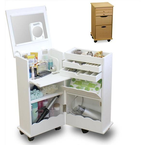 Folding Dressing Table Mobile Cabinet Makeup Organizer Bedside Table Storage Kids Room Small Kids Room Bedroom Toys