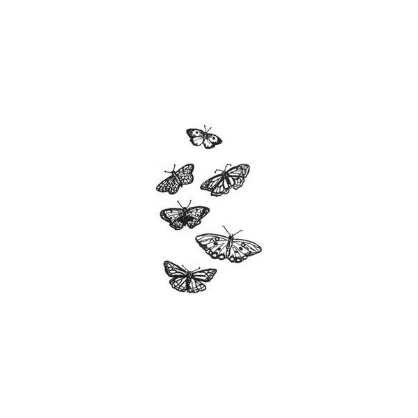Butterfly Rubber Stamps (RubberHedgehog.Com) ($9) ❤ liked on Polyvore