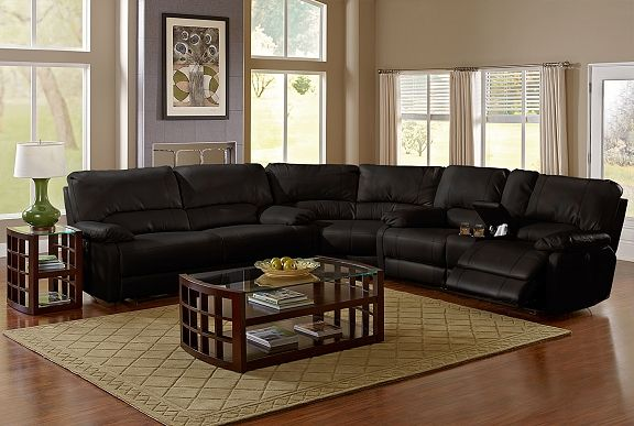American Signature Furniture Coronado Ii Leather Collection 3 Pc Power Reclining Sectional