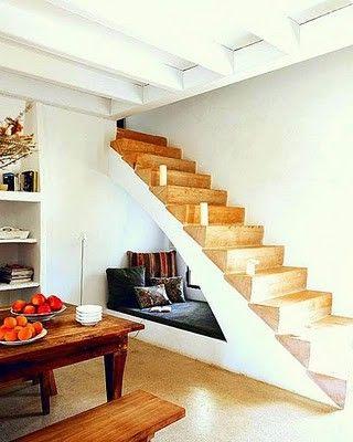 Nook under stairs