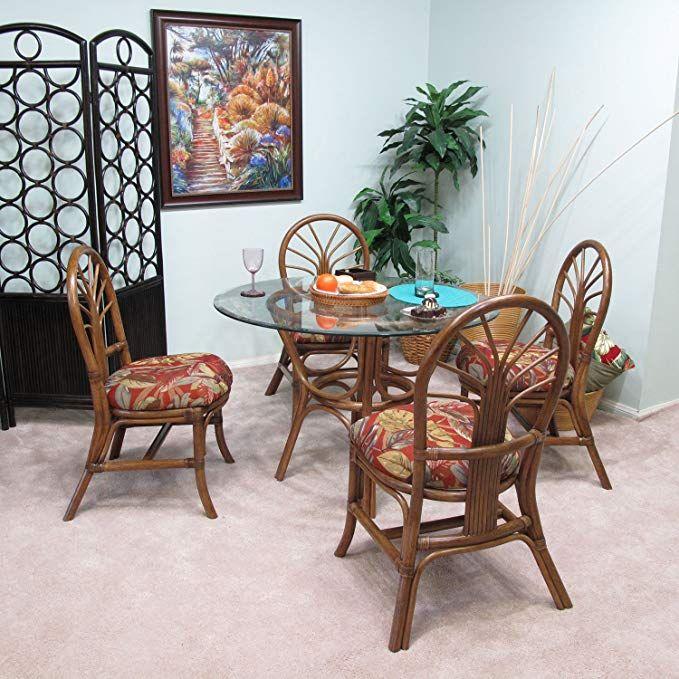 Premium Rattan Dining Furniture Sundance 5pc Set Islander Spice