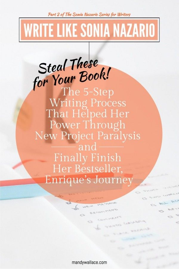 Write Like Sonia Nazario: This 5-Step Writing Process Gets Her through New Project Paralysis Every Time