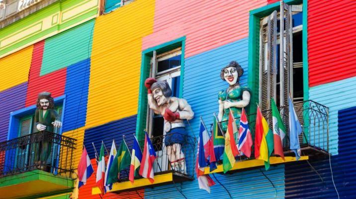 La Boca bydelen i Buenos Aires er en farverig start på jeres rejse til Patagonien i Argentina og Chile