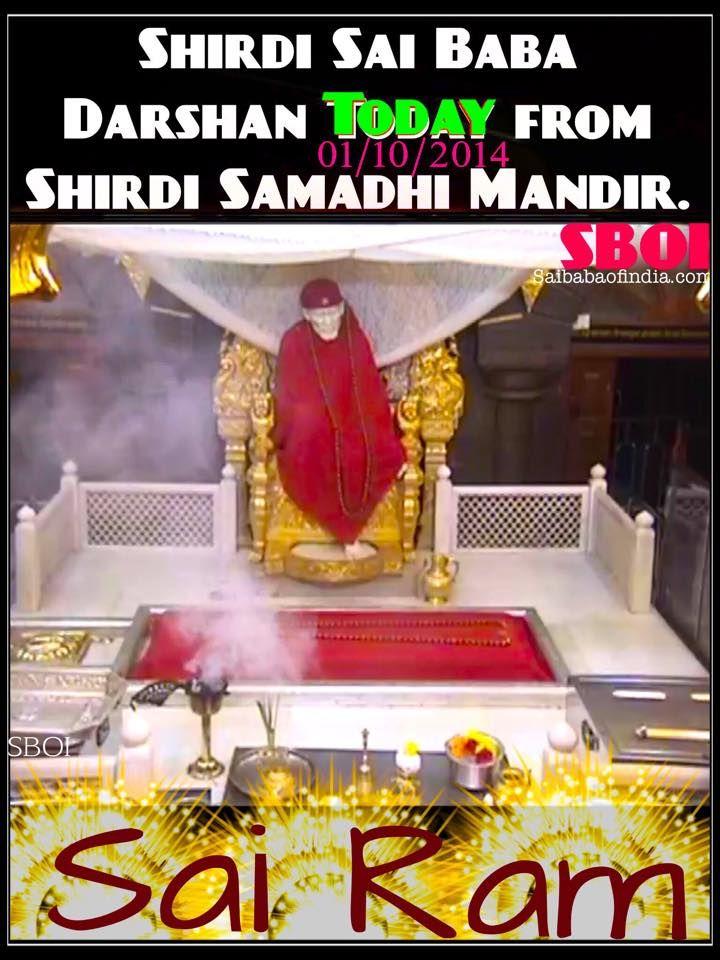 Today's Darshan Photo from Shirdi Samadhi Mandir    http://www.saibabaofindia.com/shirdi_sai_baba_links.htm