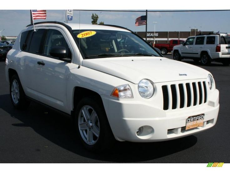car wallpaper for White 2007 Jeep Compass Sport with Pastel Pebble Beige seats - Car Wallpaper