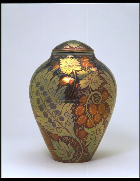 Vase - Victoria & Albert Museum - earthenware painted in lustre. 1888, by William De Morgan