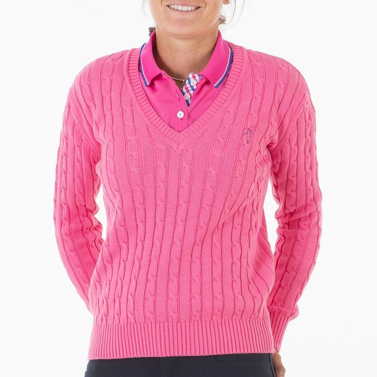 #ropadegolf.Pon un toque de elegancia a tu look. Jersey pico algodón diseño trenzas. este otoño lucirás de una forma muy especial. vístete de golf con #poloswing #moda #golf http://www.poloswing.es/23-jerseys