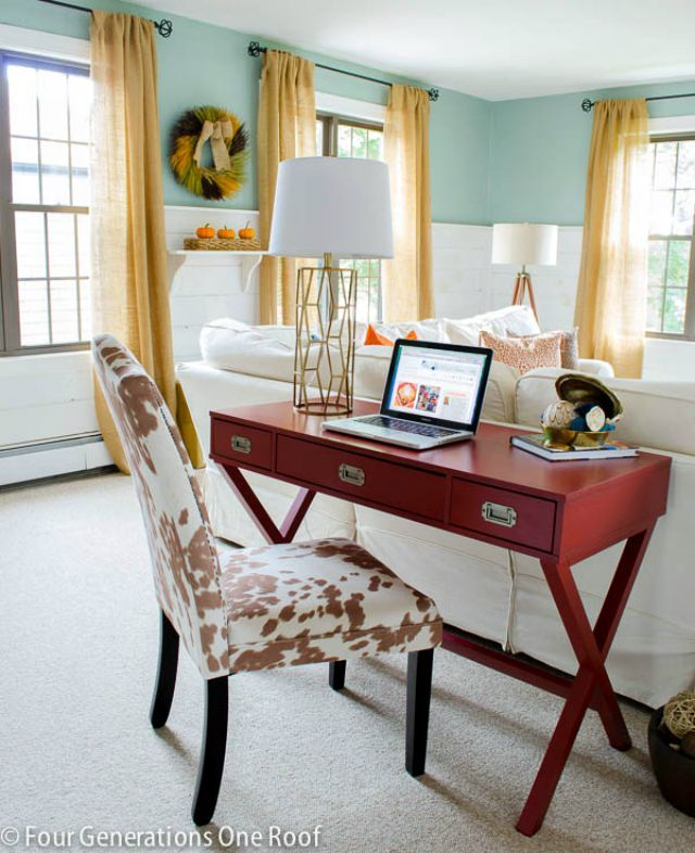 Best 25 desk behind couch ideas on pinterest living for Living spaces sofa table