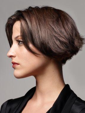 Mature women sort hair style