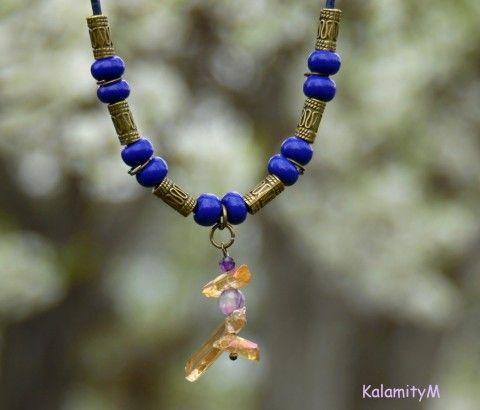 Toby Jug - náhrdelník s křišťálem náhrdelník achát dárek křišťál aqua aura
