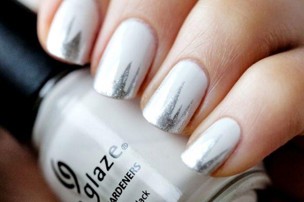 shredded frenchNails Nails, Nails Art, Beautiful Nails, Nails Design, Silver Nails, China Glaze, Winter Wonderland, Beauty Nails, Nails Polish