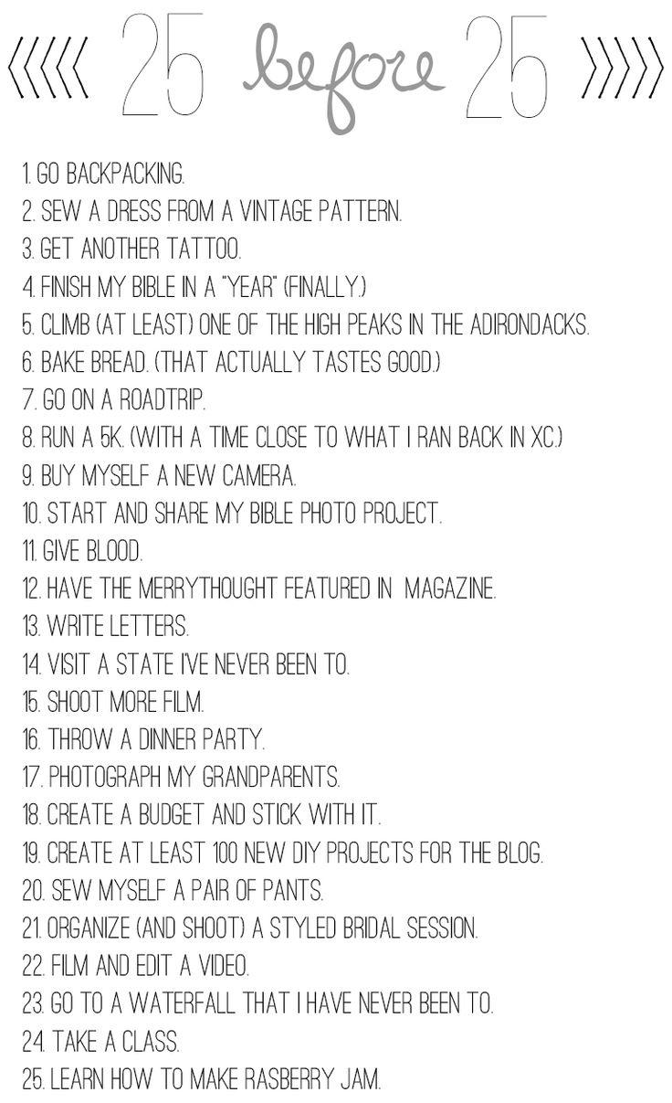 Birthday Bucket List   The Merrythought