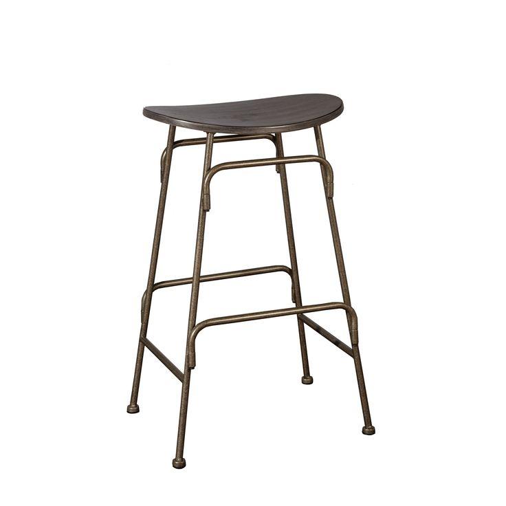 Swell Carbon Loft Rutherford Black Wood And Old Bronze Metal Inzonedesignstudio Interior Chair Design Inzonedesignstudiocom