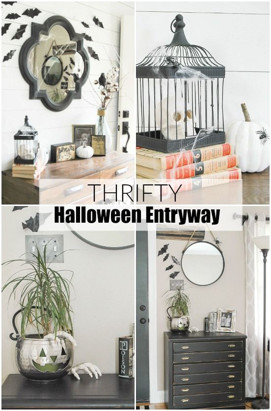 Going Batty: A Thrifty Halloween Entryway | Little House of Four: Going Batty: A…