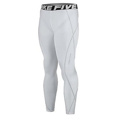 New 016 Take Five Mens Compression Base Layer White Running Pants Sportswear