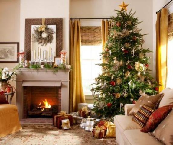 Decorating Rustic Living Room Ideas Martha Stewart Christmas Decorating  Ideas 40 Round Coffee Table 572x480 Christmas Part 53