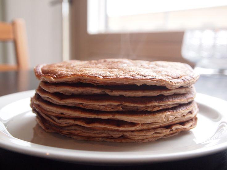 Protein-pandekager lavet på få ingredienser.