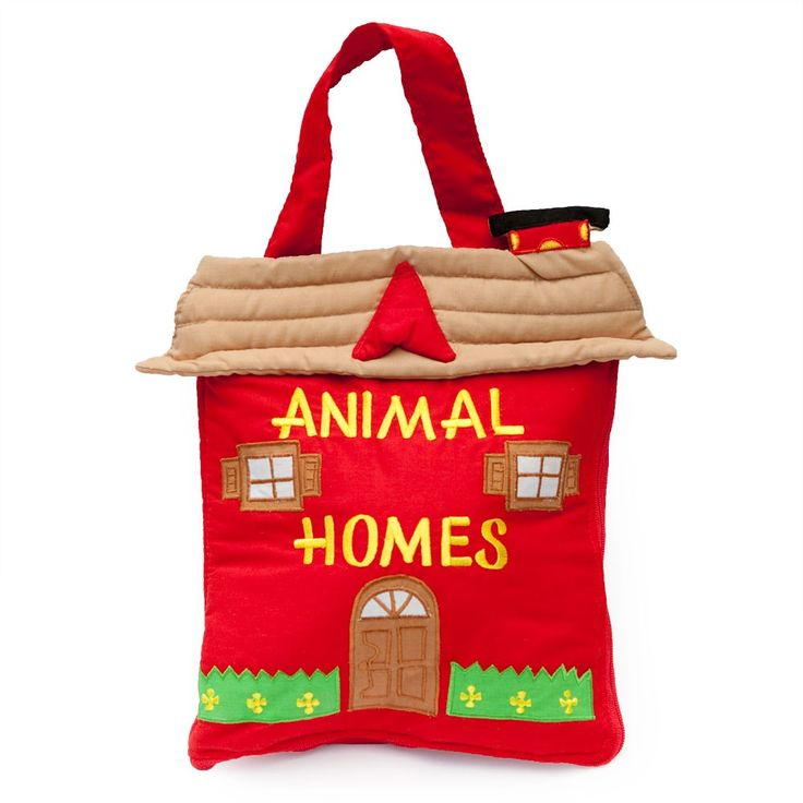 Kids Toys to You | Animal Homes Soft Book Bag The perfect quiet entertainer! The animals can be removed from their homes, played with, and then returned to their homes (or someone else's!!). Includes turtle, cow, fish, bird, bee, horse, joey and dog. $45 www.kidstoystoyou.com.au