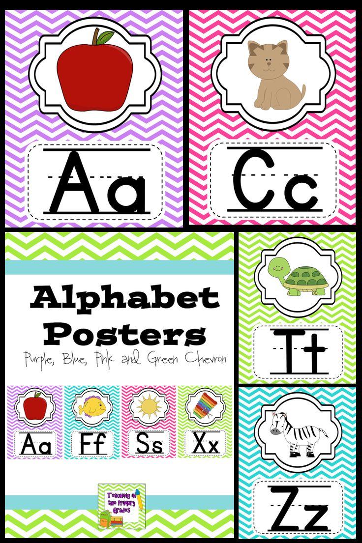 Classroom Alphabet Decor ~ Best bright colored classrooms decor ☺️ images on