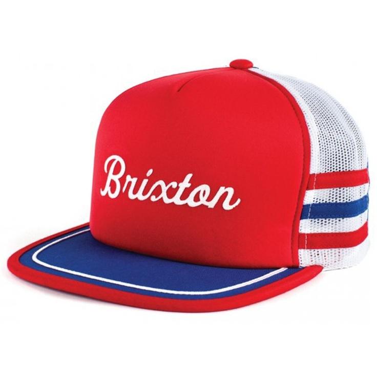 #Brixton Clothing Mens Hat Pilsner Red White Blue