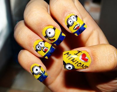 Amazing minion nails