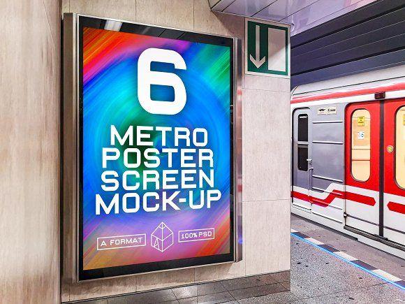 Metro Underground Ad Screen Mockup 3 In 2021 Mockup Underground Mocking