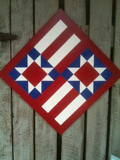 I'm seeing colorful July Fourth decorations all over blogland right now! Thought I'd add a few 'patriotic' barn quilts to the mi...