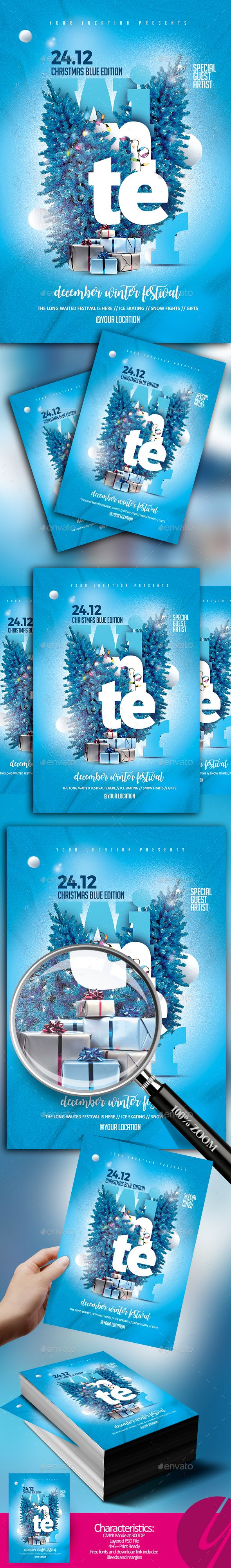 Winter Festival — Photoshop PSD #disco #yczcreative • Available here ➝ https://graphicriver.net/item/winter-festival/20921811?ref=pxcr